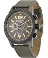 Buy Sector Mens Overland Multi Dial Green Leather Watch online