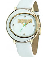 Buy Just Cavalli Ladies Gold and White Lac Watch online