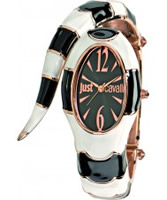 Buy Just Cavalli Ladies Black and White Poison Watch online
