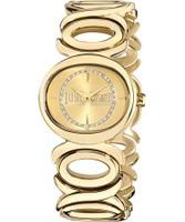 Buy Just Cavalli Ladies Gold Double Watch online