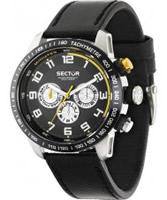 Buy Sector Mens 850 Range Multi Dial Black Leather Watch online
