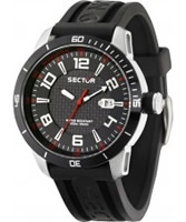 Buy Sector Mens 850 Range Black PU Watch online