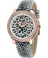 Buy Just Cavalli Ladies Black Leopard Watch online