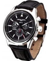 Buy Jorg Gray Mens Black Leather Chronograph Watch online