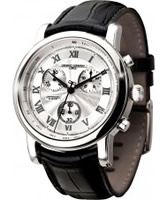 Buy Jorg Gray Mens Chronograph Leather Strap Watch online