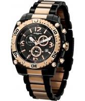 Buy Jorg Gray Mens Black Rose Gold Watch online