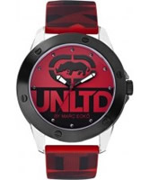 Buy UNLTD by Marc Ecko Mens The Tran Red Watch online