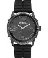 Buy UNLTD by Marc Ecko The Fuse Black Plastic Watch online