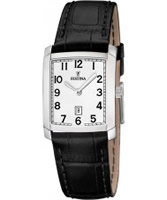 Buy Festina Ladies Black Leather Strap Watch online