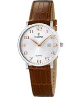 Buy Festina Ladies Brown Leather Strap Watch online
