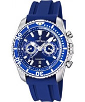 Buy Festina Mens Chronograph Blue Rubber Watch online