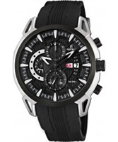 Buy Festina Mens Chrono All Black Rubber Watch online