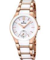Buy Festina Ladies Ceramic Rose Plated Watch online