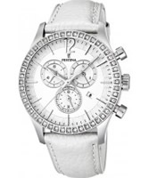 Buy Festina Ladies Chronograph Leather Strap Watch online