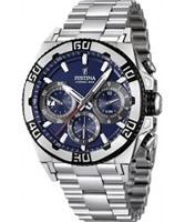 Buy Festina Mens Light Blue and Silver 2013 Chrono Bike Watch online