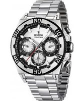 Buy Festina Mens White and Silver 2013 Chrono Bike Watch online