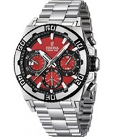 Buy Festina Mens Red and Silver 2013 Chrono Bike Watch online