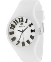 Buy Marea Nineteen White Silicone Strap Watch online