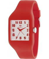 Buy Marea Nineteen Red Silicone Strap Watch online