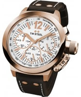 Buy TW Steel CEO Chronograph Brown Leather Strap Watch online