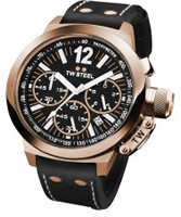 Buy TW Steel CEO Chronograph Black Leather Strap Watch online