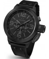 Buy TW Steel Cool Black Chronograph Leather Strap Watch online