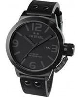 Buy TW Steel Cool Black Leather Strap Watch online