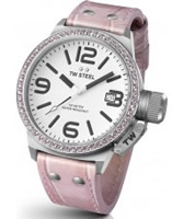 Buy TW Steel Canteen White and Pink Leather Strap Watch online