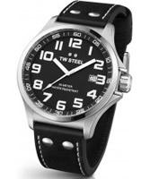 Buy TW Steel Pilot Black Leather Strap Watch online
