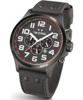 Buy TW Steel Pilot Chronograph Grey Leather Strap Watch online