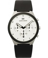 Buy Danish Design Mens Chronograph Black Leather Watch online