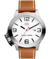 Buy Danish Design Mens Large Brown Leather Watch online