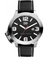 Buy Danish Design Mens Large Black Leather Watch online