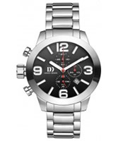 Buy Danish Design Mens Large Chronograph Steel Watch online