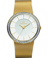 Buy Danish Design Ladies Stone Set Gold Plated Mesh Watch online