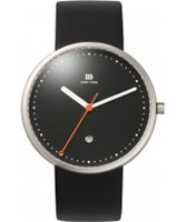 Buy Danish Design Mens Red Dot Awarded Black Leather Watch online