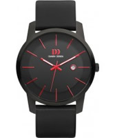 Buy Danish Design Mens Black Leather Strap Watch online