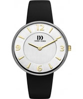 Buy Danish Design Ladies Black Leather Strap Watch online