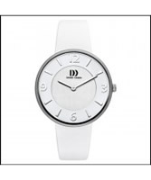 Buy Danish Design Ladies White Leather Strap Watch online