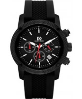 Buy Danish Design Mens All Black Chronograph Watch online