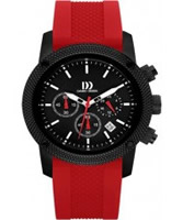 Buy Danish Design Mens Chronograph Black and Red Watch online