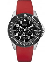 Buy Guess Mens ROGUE Black Red Watch online