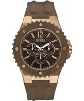 Buy Guess Mens OVERDRIVE Brown Watch online