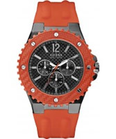 Buy Guess Mens OVERDRIVE Orange Watch online
