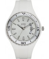 Buy Guess Mens FIN White Watch online